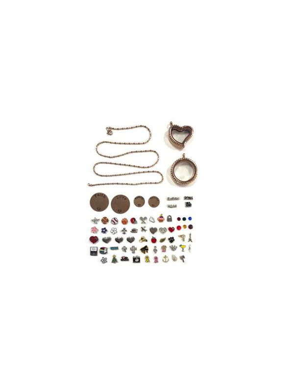 Rose Gold Lockets and Charms Set - While Supplies Last!