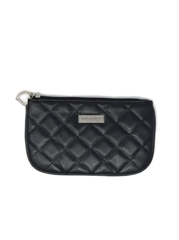 Small Scarlett Quilted Black Multi-Functional Pouch