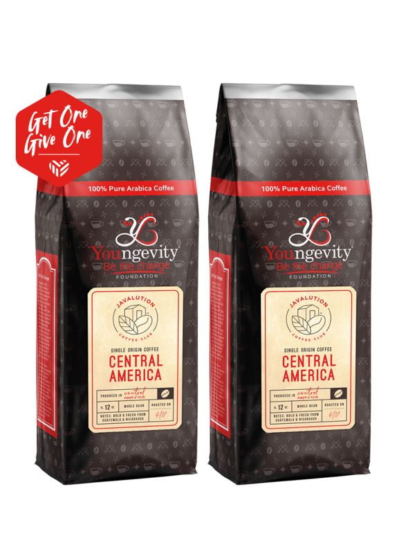 Javalution Club Single Origin Coffee Limited Edition—Central America Whole Bean (12oz) [QTY: 2 | Get One, Give One FREE]